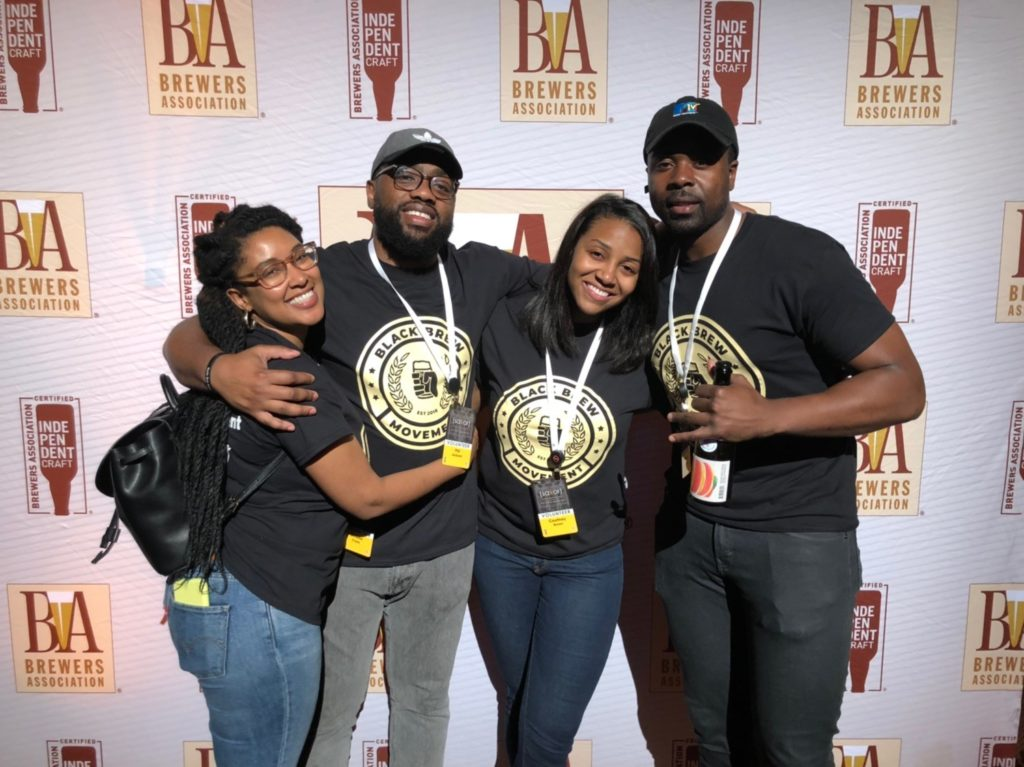 The founders of Black Brew Movement: Simone Cope, Phil Jackson, Courtney Brown, and Charles Rominiyi